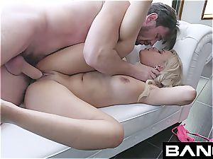 blondie Latina does filthy things for a large boner in the bootie
