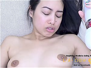 super-fucking-hot Asians pays the bill with that brutal arse