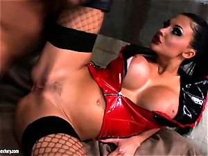 Lusty marvelous Aletta Ocean gets anally pummeled she couldn't stop screaming