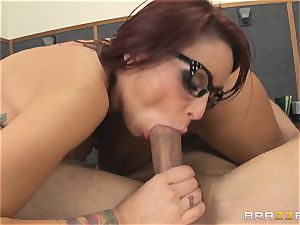 Mick Blue daydreaming in class about his educator Madison Ivy
