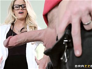 warm doctor Jessa Rhodes checks out this large wood