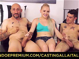 CASTNG ALLA ITALIANA - platinum-blonde vixen rough double penetration fuck-a-thon