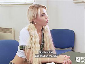 pornography ACADEMIE - college girl Lara Sins gets jizm frosted