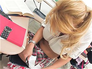 Bad college girl Shyla gets poked by her lecturer