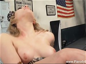 Parody platinum-blonde rides bbc interracial