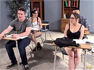 buxomy instructor Ava Addams is pulverized by her student