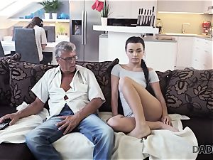 DADDY4K. parent takes part in spontaneous orgy with hotty Erica dark-hued