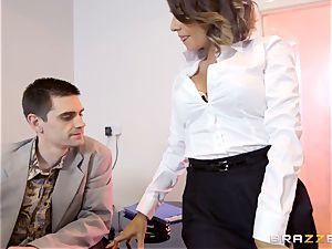 Workmates see as Cara Saint-Germain pummels in the office