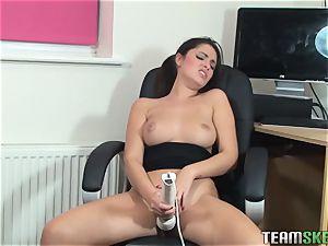 brit brunette Ava Dalush