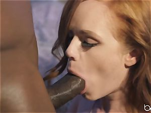 big black cock for insatiable ginger-haired Ella Huhges