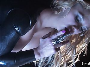 big-titted blond Shyla's smoking steaming tease