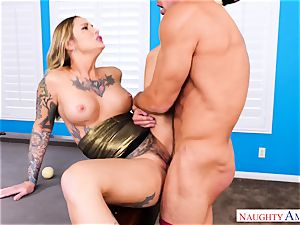 Kleio Valentien tattooed pumping out