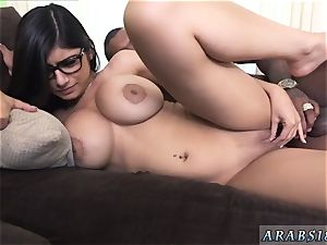 undergarments cumshot compilation and gonzo screaming orgasm first-ever time Mia Khalifa tries A