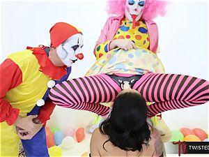 Dana Vespoli nailed by creepy giant hard-on clowns